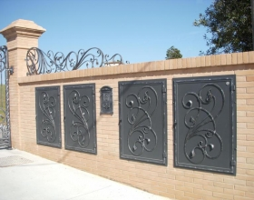 Natural gas boxes in wrought iron