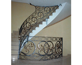Balustrade in iron