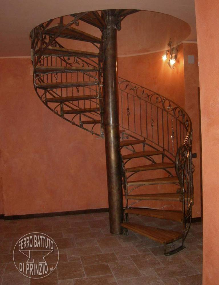 Spiral staircases wrought iron made in italy di prinzio - Spiral staircase wrought iron ...