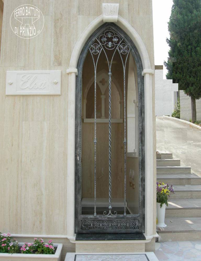 Wrought iron door, Gothic style