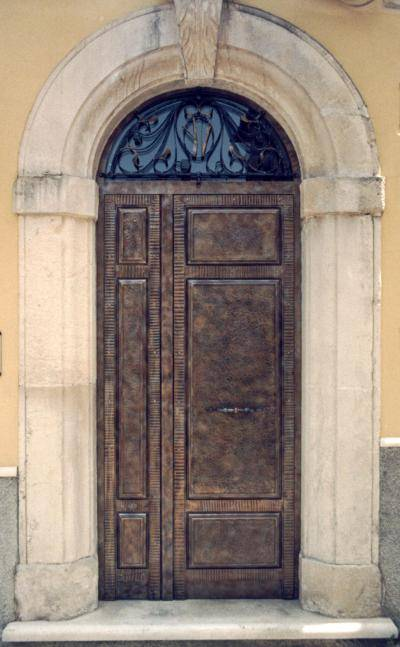 Ancient wrought iron entrance door