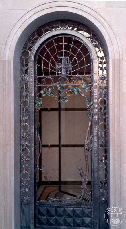 Door in wrought iron