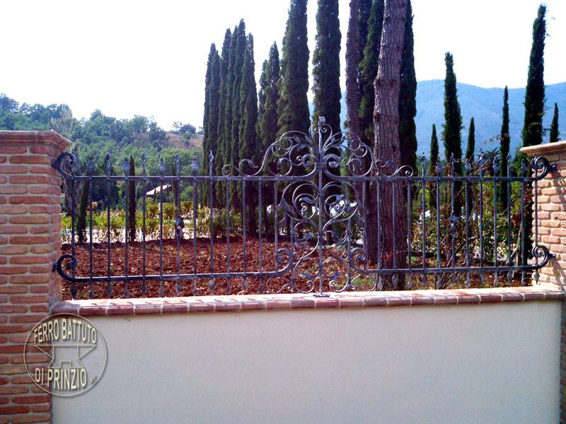 Fence in wrought iron Italy