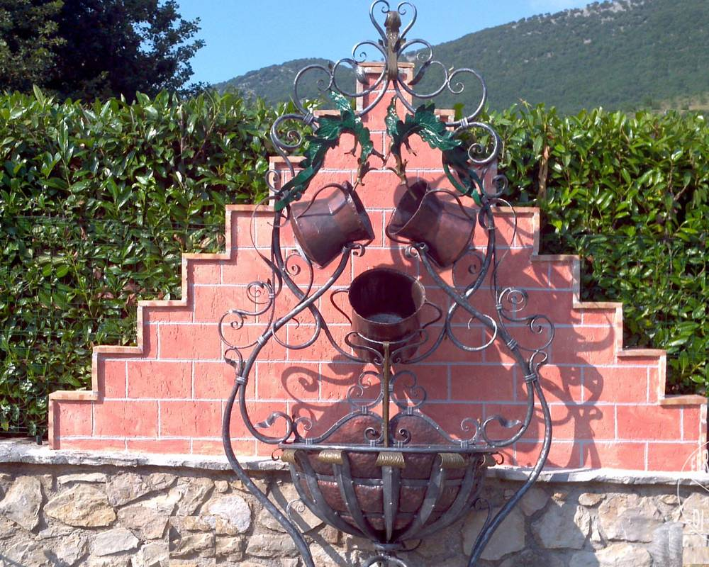 Fountain in wrought iron