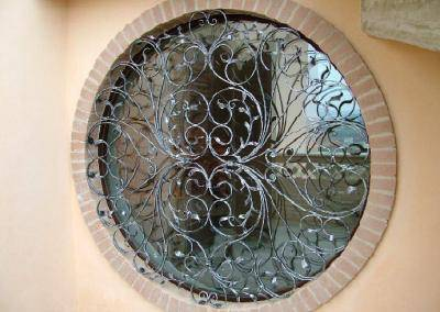 wrought iron grate window