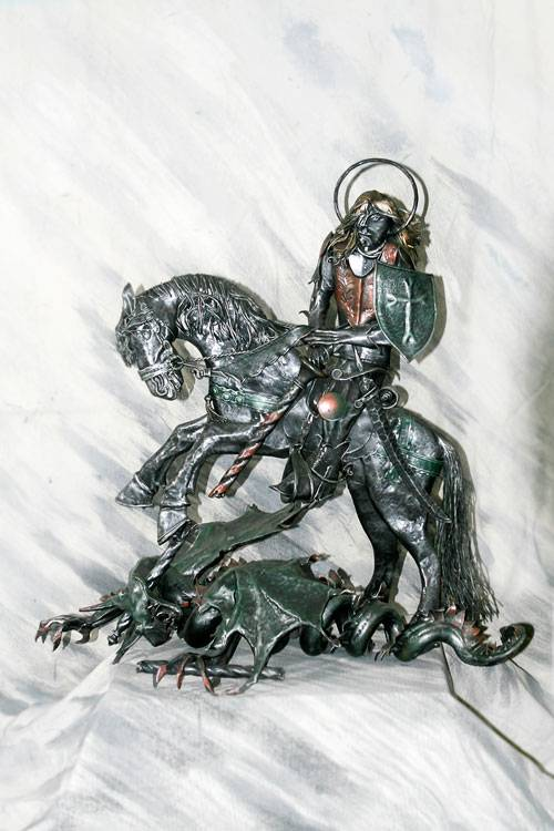 Work of art in wrought iron | Saint George and the Dragon