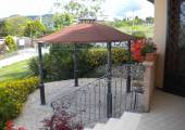 small wrought iron canopy for terrace