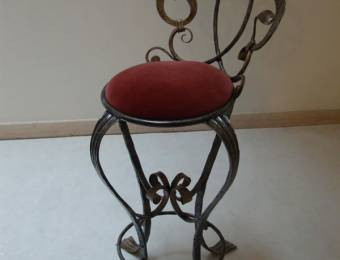 Stool Wrought Iron hand crafted