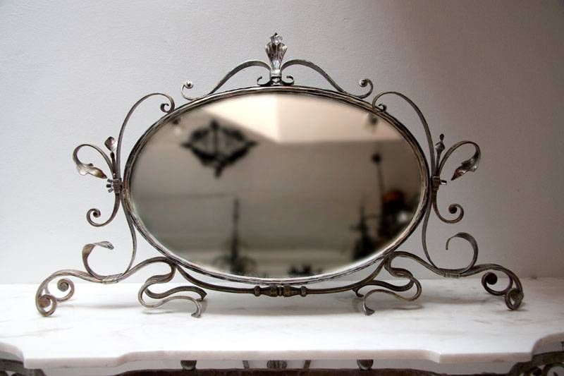 Wrough Iron Mirror - Handmade
