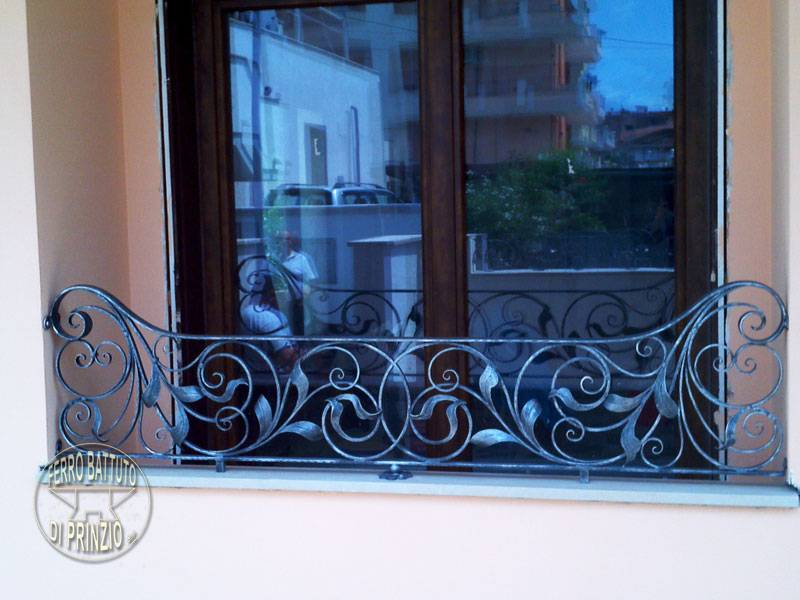 Wrought iron balaustrade