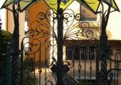 Wrought iron canopy