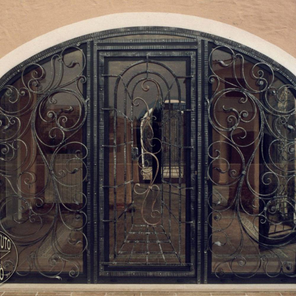 Door - Wrought iron and glass