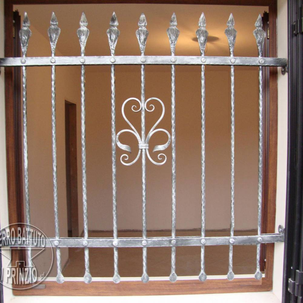 Wrought iron grille