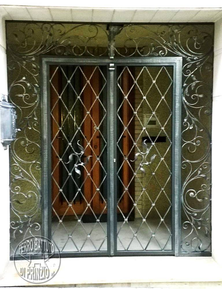 Wrought iron protection door