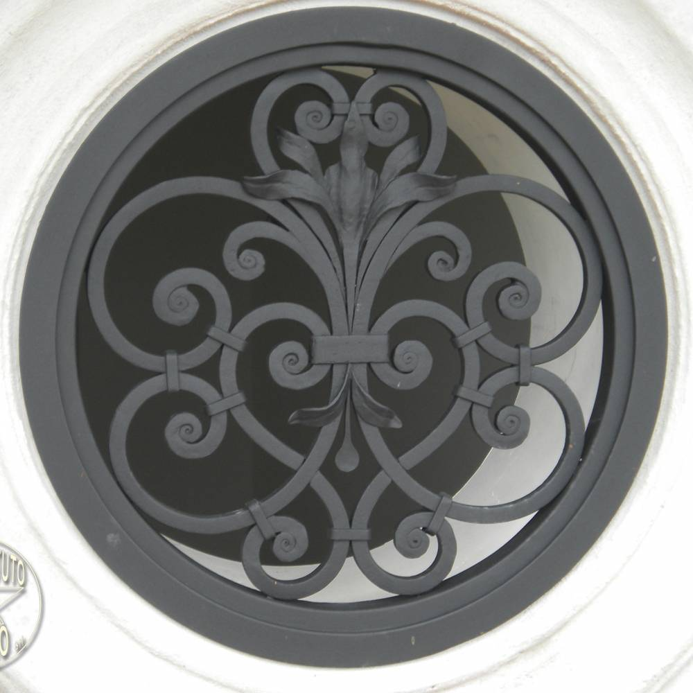 Wrought iron protection grille