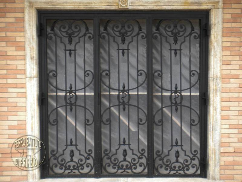 Wrought iron protection for windows