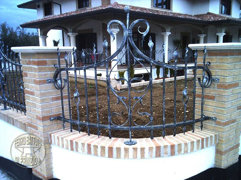 Wrought iron fence for villa