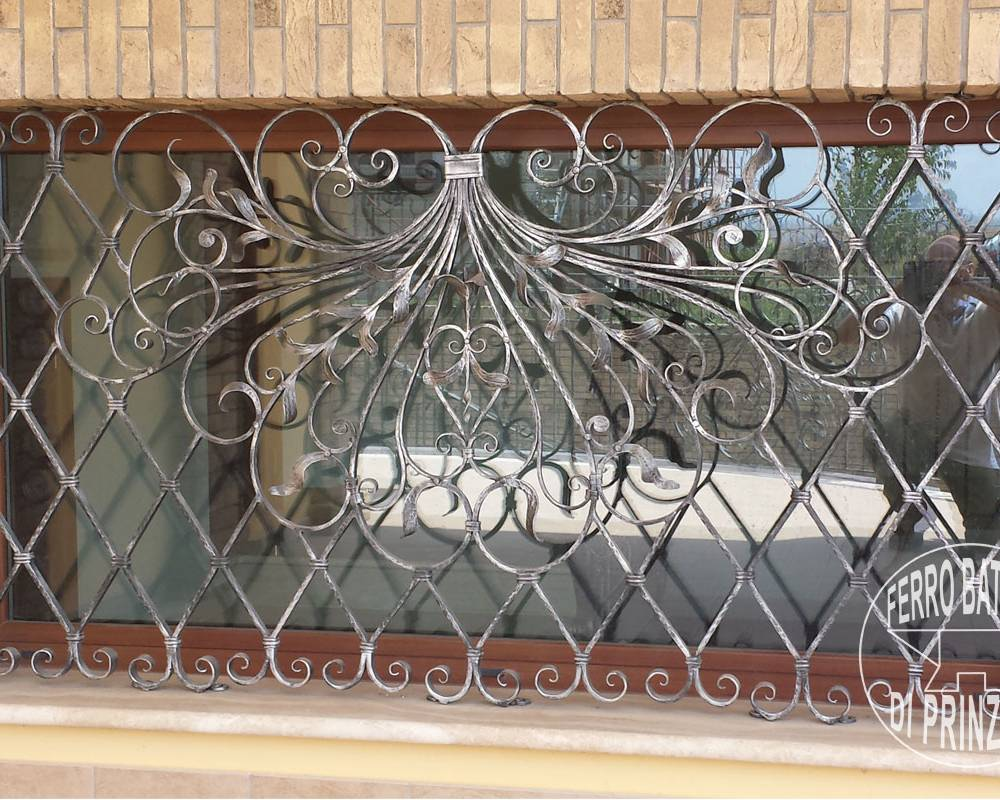 Wrought iron fixed grille