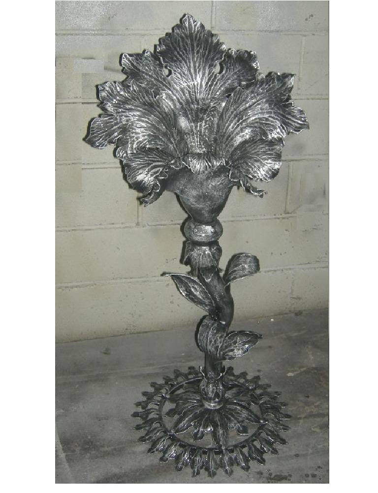 wrought iron fountain flower