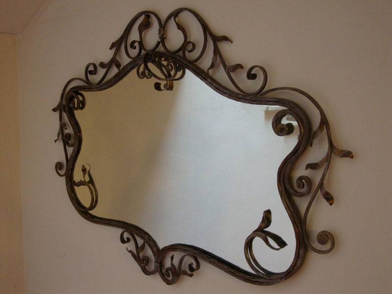 Wrought Iron Mirror Classic Design
