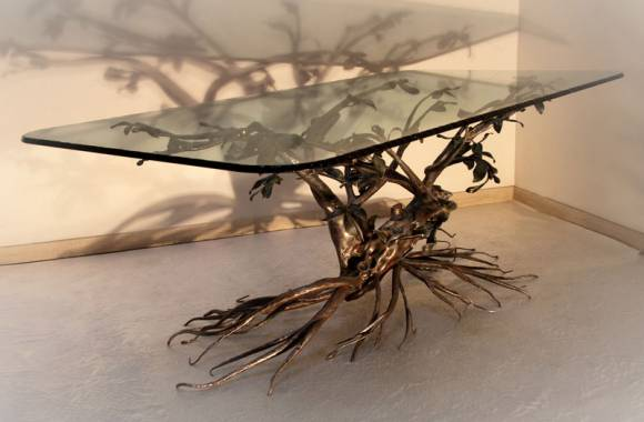Wrought Iron Table - Tree Decoration