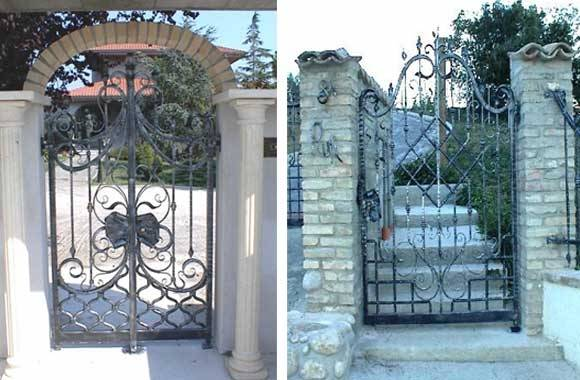 wrought iron gates models
