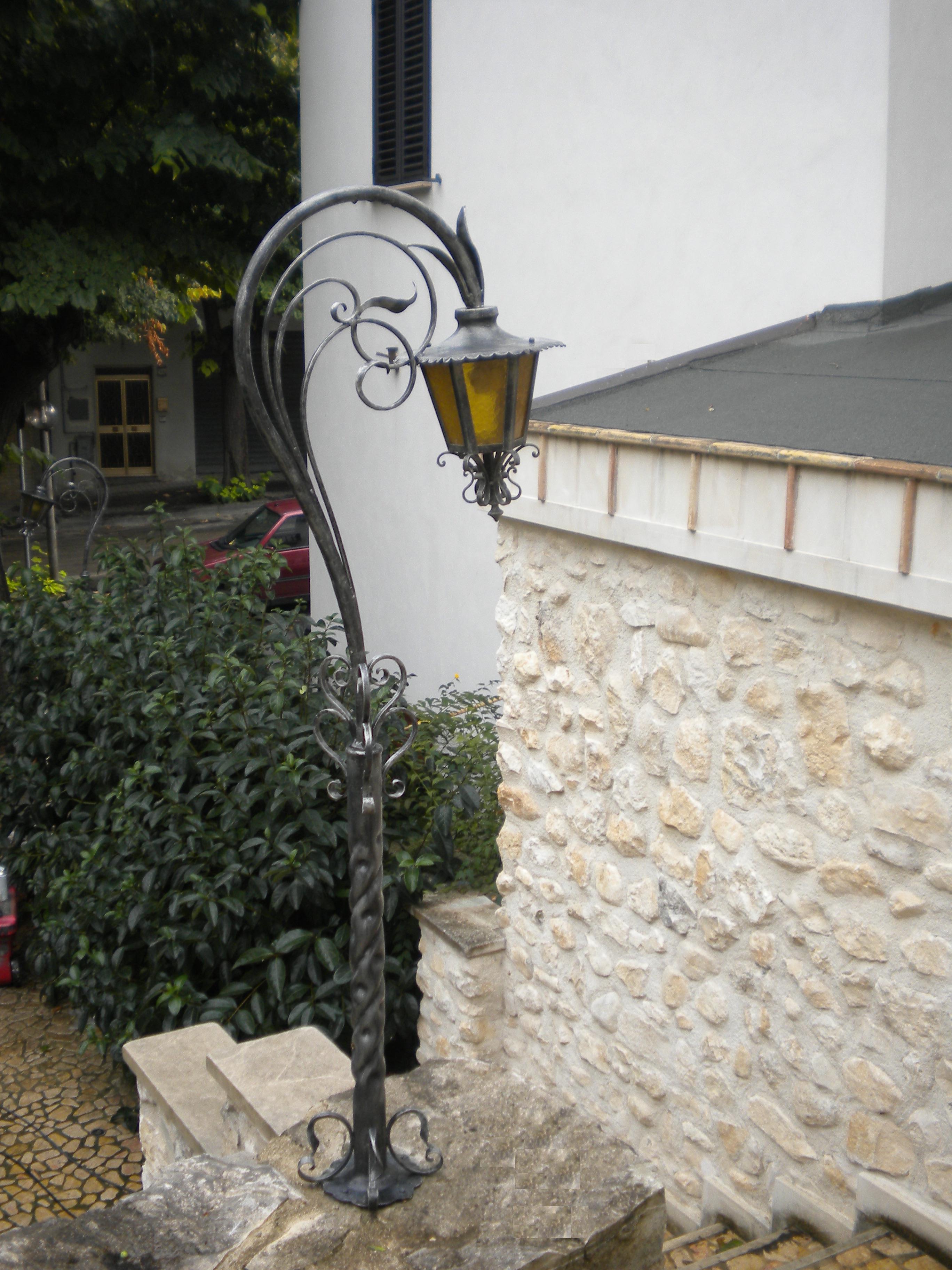 Wrought iron lampposts iron lampposts garden lampposts mozeypictures Gallery