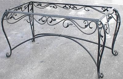 Interior Furnishings: Furnishings In Wrought Iron, Small Tables,  Wine Bottle Holders, Wrought Iron Benches, Iron Chairs