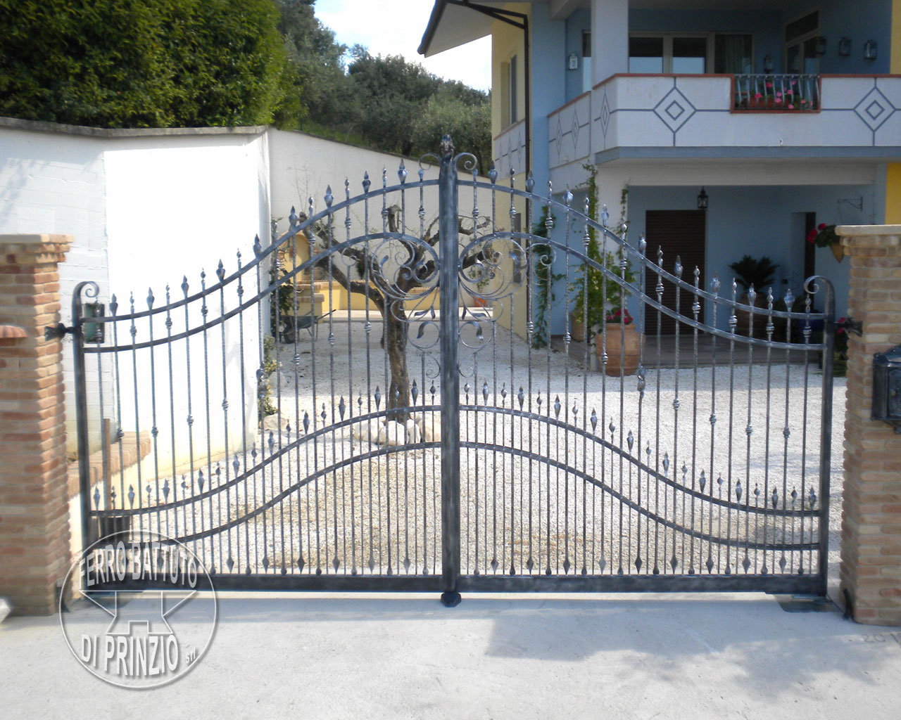 Wrought Iron Gate Simple