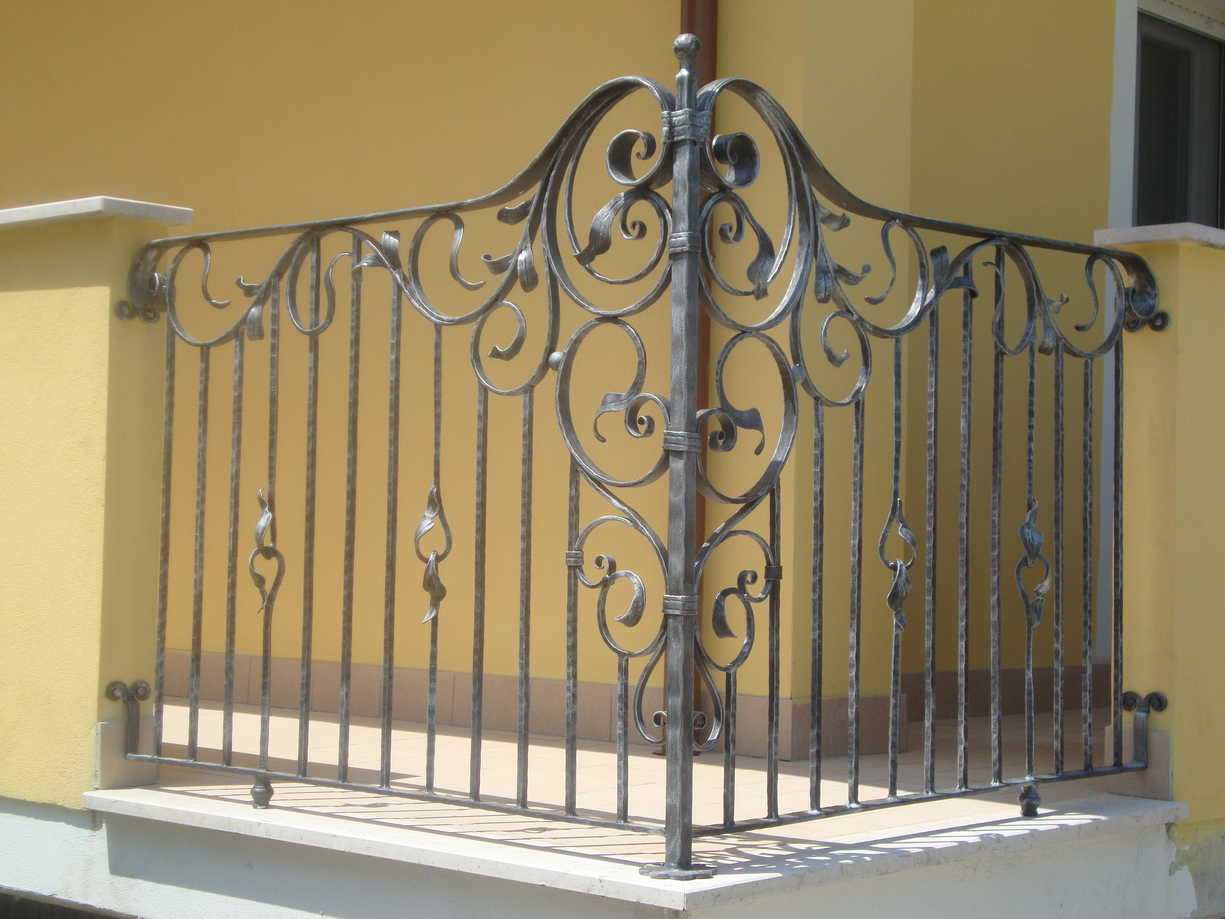 exterior balustrades hand crafted creations wrought iron. Black Bedroom Furniture Sets. Home Design Ideas